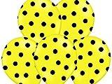 BUDILA® 10 grosse Luftballons gelb mit schwarzen Punkten ca. 110cm Umfang heliumgeeignet