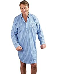 Mens Champion Brushed Cotton Striped Nightshirt Sleepwear Nightwear.