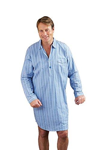 Camicia da notte da uomo Champion, in cotone spazzolato a strisce Blue Large