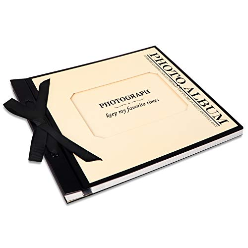 Jiawei Neue Kreative, Langlebige Erinnerungsalbum, DIY-Album, 400g/m² 32 Seiten aus weißem zum einkleben Pappe (16 Blatt) Rosen-Thema Foto Album Beige, 31 x 25 cm (Foto-album-31 2 Von 5)