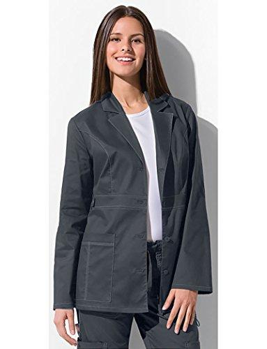 07328fb0086 Dickies Women's Scrubs 82408 Gen Flex Junior Fit Contrast Stitch Lab Coat,  Light Pewter,