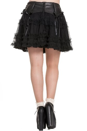 Spin Doctor Rock SALLY SKIRT Black