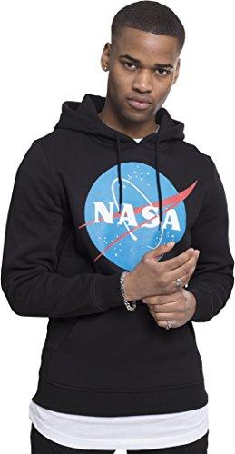 Mister Tee NASA Logo Hoodie, Kapuzenpullover für Herren- Farbe Black, Größe L