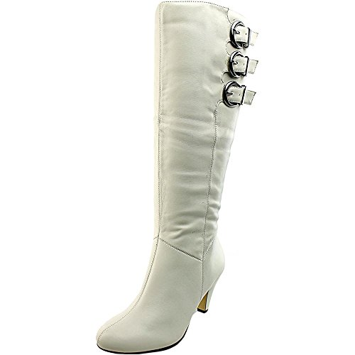 Bella Vita Transit II Breit Rund Kunstleder Mode-Knie hoch Stiefel Wnt Wht