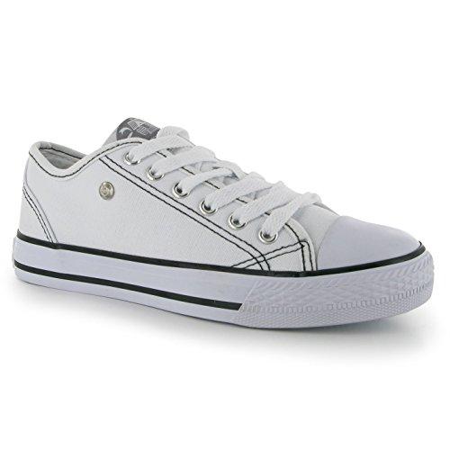 Dunlop - Zapatillas de Lona para mujer, color Blanco, talla 37