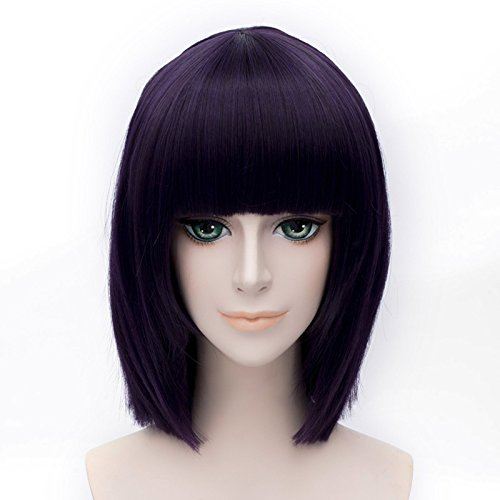 LanTing Cosplay Perücke Sailor Moon Sailor Saturn Purple Perücke Corta Styled Frauen Cosplay Party Fashion Anime Human Costume Full wigs Synthetic Haar Heat Resistant (Kostüm Cosplay Saturn Sailor)