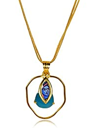 Miranika Gold Plated Pendant for Women (Blue)(C1D1ASB)