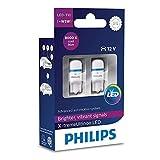 Philips 127998000KX2 X-tremeUltinon LED T10 W5W Bombilla de señalización y interior del coche, 12 V, Paquete de 2