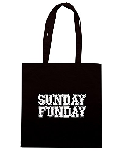 T-Shirtshock - Borsa Shopping OLDENG00668 sunday funday sports Nero