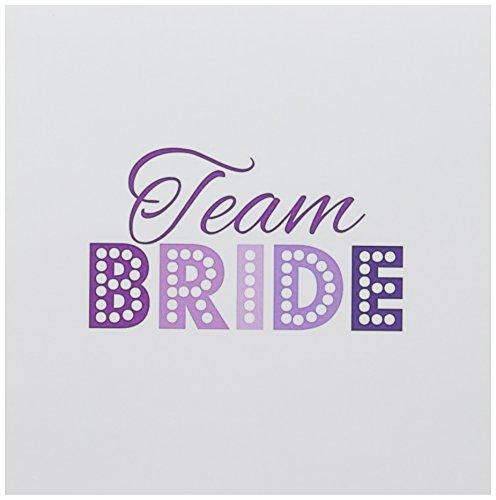 3drose Team Braut in Hot Pink und Lila Glitzy Las Vegas Stil Nacht Hen Party–Grußkarten, 15,2x 15,2cm, Set 6(GC _ 151559_ - Hot Geburtstag Einladungen Pink