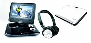 """Lecteur DVD portable D-jix PVS 705-79CBC Blanc + Casque   écran rotatif 7 """"  USB  carte SD  Xvid"""