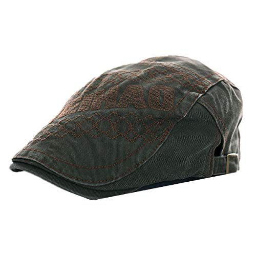 KRY Visière pour Hommes Rétro Loisirs en extérieur Racing Hat Femmes réglable pour Homme Protection Solaire Hat Vert Militaire