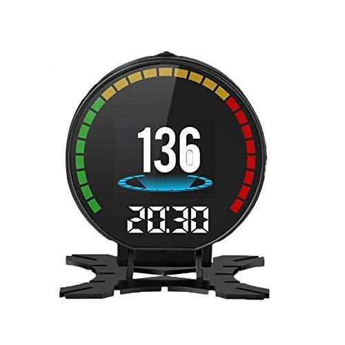 MOGOI HUD OBD Auto Head Up Display, Multifunktions-HUD Smart Digital TachometerKm/H/MPH/Fehlercode Löschen/Motordrehzahl/Kilometerstandmessung OBD II/EU OBD-Schnittstellenstecker Multifunktions-digital-video