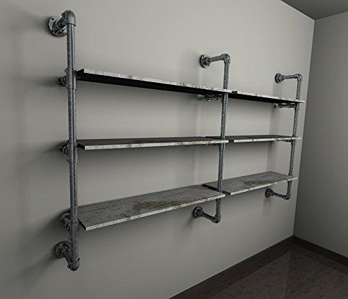 Cabina armadio ripiani tubi idraulici stile industriale for Casa in stile magazzino