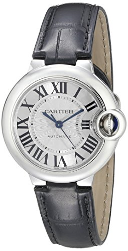 CARTIER WOMEN'S BALLON BLEU DE CARTIER 33MM BLACK AUTOMATIC WATCH W6920085