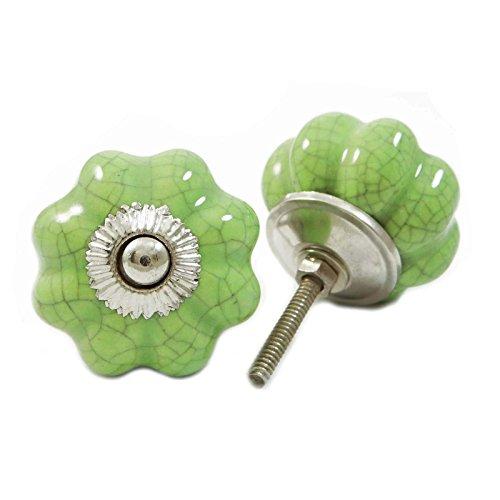 Manopola mobili a forma di zucca cassetto ceramica armadietto Pull Hardware Green