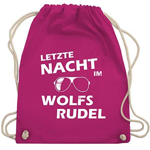 JGA Junggesellenabschied - Letzte Nacht im Wolfsrudel - Unisize - Fuchsia - WM110 - Turnbeutel & Gym Bag