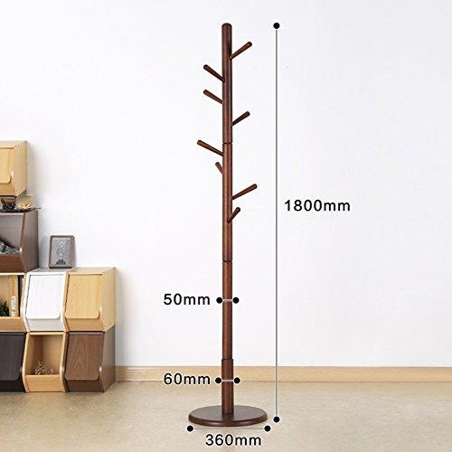 QiangDa Garderobenständer Hutständer Aus Holz Ast Form Bodenständig  Kleiderbügel Wohnzimmer, Höhe 1800mm, 6