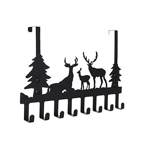 MIKI-Z - Gancho para Colgar sobre la Puerta, 8 Ganchos, Soporte de Almacenamiento, Organizador de Ciervos, Perchero para Colgar Abrigos, Sombreros, Toallas, Bolsas, paños