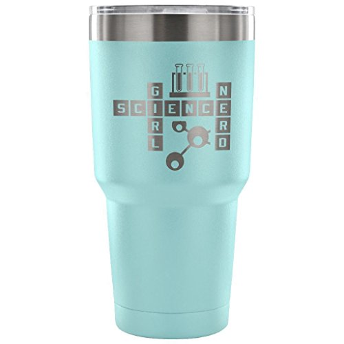 Geek Mug de voyage Science Girl Nerd Gobelet de 850,5 gram en acier inoxydable 30 Ounce Vacuum Tumbler - Light Blue
