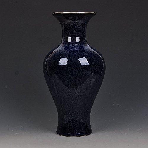 JHDH2-D'epoca Ming bule vaso in porcellana smaltata, design soggiorno arredamento moderno con decorazioni d'epoca,37 CM * 17.5 CM