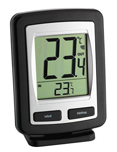 TFA Dostmann Funk-Thermometer Zoom 30.3040.IT, schwarz