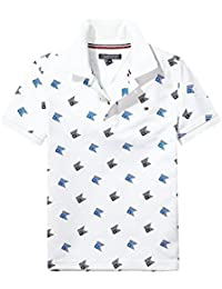 Tommy Hilfiger Ame All-Over Print S/S, Polo para Niños