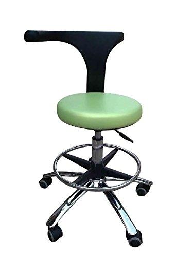 First Dental Medical Büro Hocker 360° Rotary Armlehne des Assistenten Hocker verstellbar Mobile Stuhl PU grün (Mobile Lab-hocker)