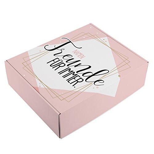 Herz & Heim® Freundinnen Geschenk-Verpackung - Freunde für immer. - mit Ihren Namen bedruckt (Immer Herzen Für Freunde)