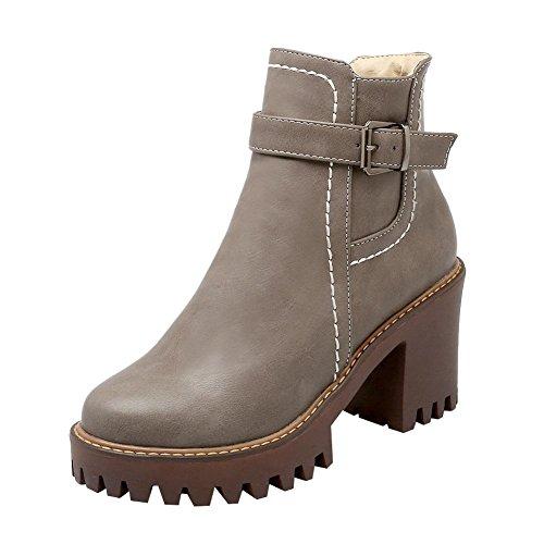 Stiefel Sapatos De Saltos Grau Plataforma Robustos Correu Com Damen 0Fw0qBv