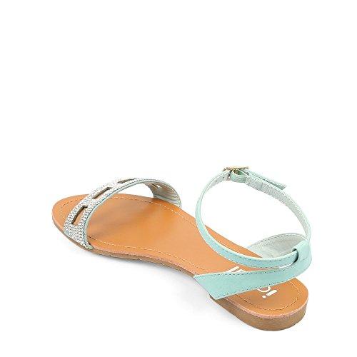 Ideal-Sandale Shoes Badserie Felina Geschenk mit Kristallschmucksachen Blau - blau