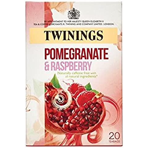 Twinings Melograno E Lampone - 20 Bustine Di Tè - Lampone Menta Tè