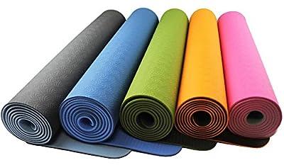 Yogamatte »ShitalaÂ« / Umweltfreundliche und hypo-allergene TPE-Matte, weich und rutschfest, ideal für alle Yoga-Lehrer und Yogis / Maße: 183 x 61 x 0,5cm / In vielen Farben erhältlich.