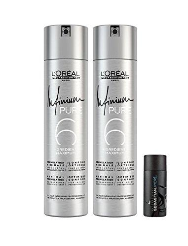 Loreal 2 er Pack Loreal Infinium Pure Strong 500 ml + Sebastian Hydre Shampoo 50ml