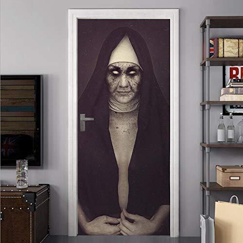 Halloween wall sticker 3d strane sorelle sorelle apprezzamento applique decorazione per finestre horror scary 30,3