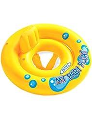 remeehi aufblasbar Baby Swim Float Floater Kind Sicherheit Sitz Spaß Hilfe Trainer Raft Wasser Spielzeug Pool Ring Kleinkinder gelb mit Rückenlehne Rad Horn