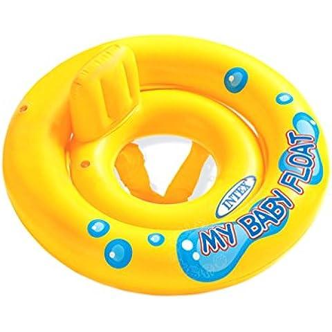 Remeehi inflable bebé Swim Flotador Floater niño asiento de seguridad ayuda Trainer serie agua divertido juguete piscina infantil anillo amarillo con respaldo rueda