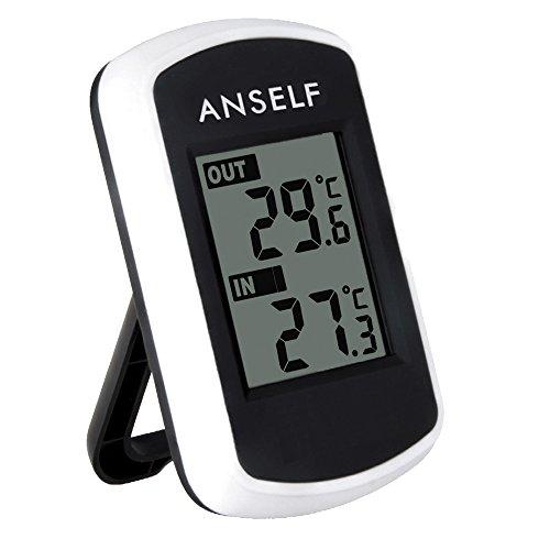 Anself TS04 - Reloj Termómetro Digital Medidor Temperatura
