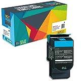 Do it Wiser  Toner Cyan Kompatibel für Lexmark C540 C543 C544 C546 X 543 X544 X 546 X548