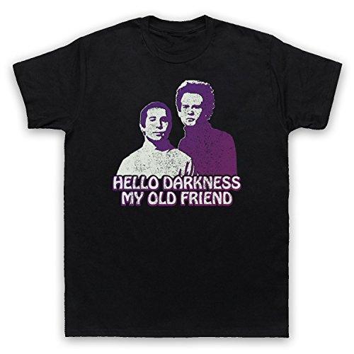 Inspiriert durch Simon & Garfunkel Sound Of Silence Unofficial Herren T-Shirt Schwarz