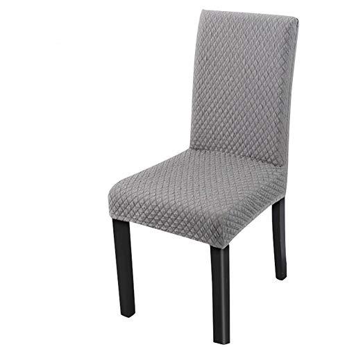 Parsons Stuhl Stoff Stuhl (Frifer Stretch Knit Dicker Stoff Esszimmerstuhl Bezüge Displayschutzfolie Strechhusse, Grau, 4 Pcs)