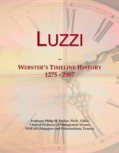 Luzzi: Webster's Timeline History, 1275 - 2007