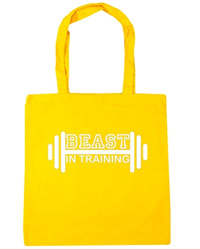 hippowarehouse-beast-in-training-tote-shopping-gym-beach-bag-42cm-x38cm-10-litres