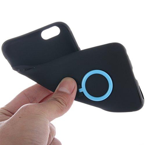 Phone case & Hülle Für iPhone 6 / 6s, Ultra dünner weicher TPU schützender rückseitiger Abdeckungs-Fall mit Ring-Halter-Standplatz ( Color : Pink ) Baby blue