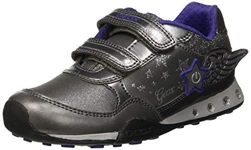 Geox Mädchen JR New Jocker Girl A Sneaker Grau (Dk Silver C1009) 38 EU