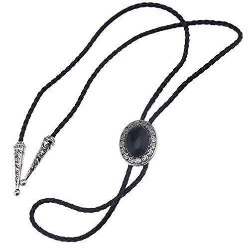 etro Stil Halskette 100cm Krawatte Schnürsenkel Schwarz ()