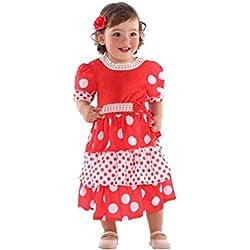 Atosa Disfraz de Sevillana Rojo para bebé
