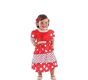 Atosa-57019 Disfraz Flamenca, Color Rojo, 6 a 12 Meses (57019