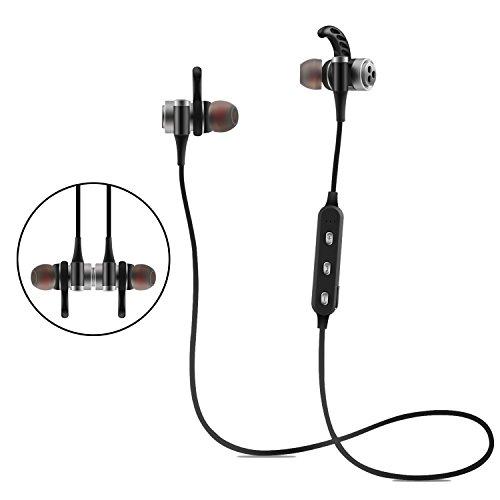 Auricolari Bluetooth Magnetic Attraction Auricolari Bluetooth 4.1 Cuffie  wireless con microfono Cuffie stereo a diaframma Hi 90221cbabe58