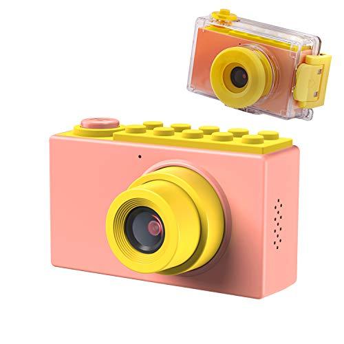 Kriogor Caméra étanche pour Enfants, 2 Pouces 10m Appareil Photo Numérique pour Enfants + 8 Mégapixels + Couverture étanche + Carte 256M TF pour Garçons Filles